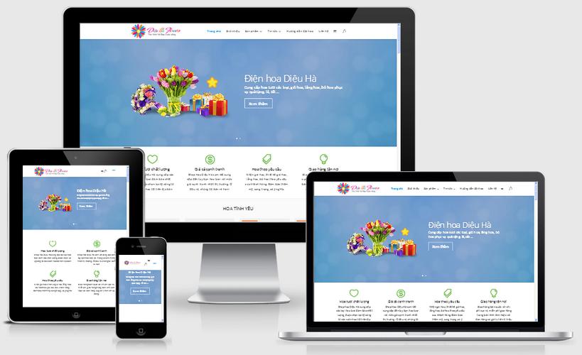 Thiết kế web điện hoa