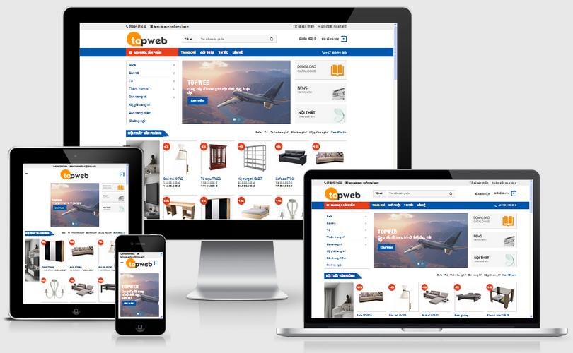 Thiết kế web bán hàng nội thất