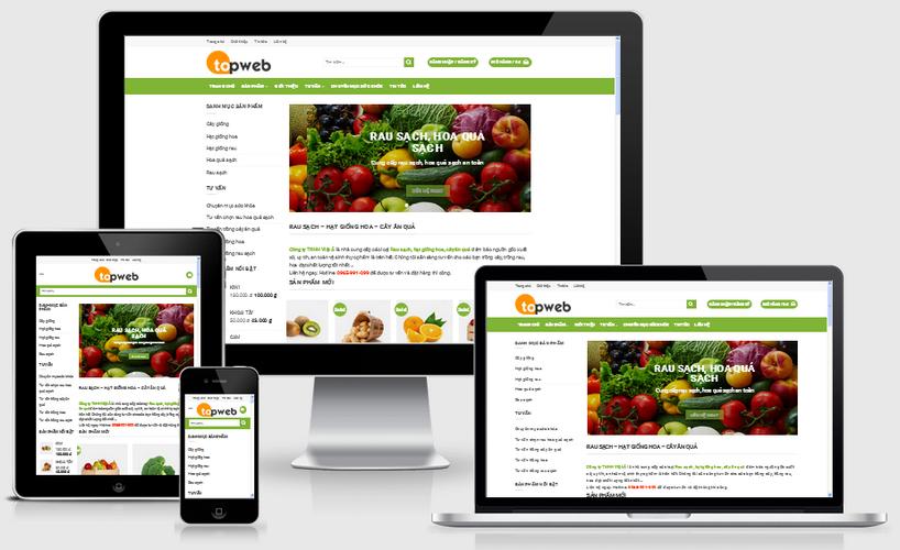 Thiết kế web thực phẩm