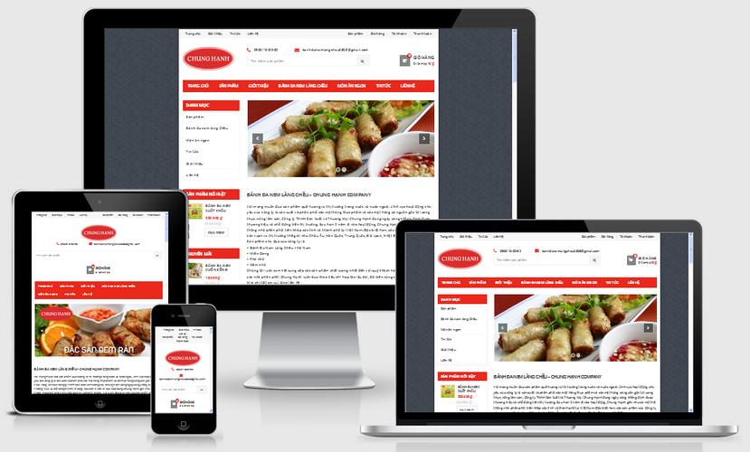 Thiết kế web bánh đa nem