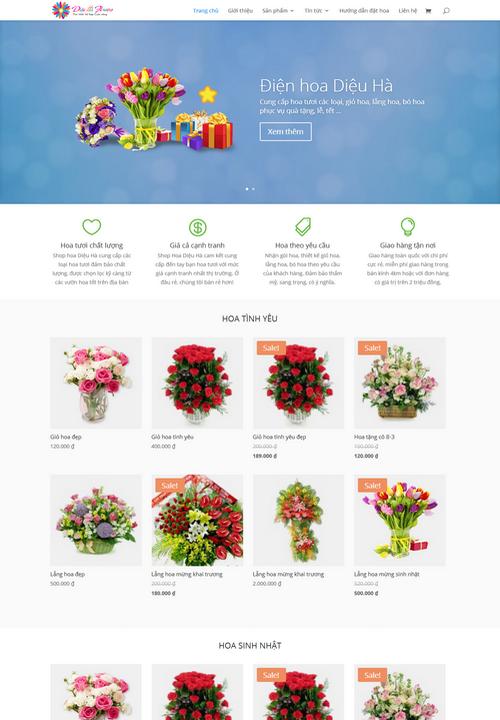 Thiết kế web điện hoa 9