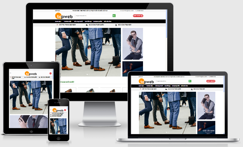 Thiết kế web thời trang nam