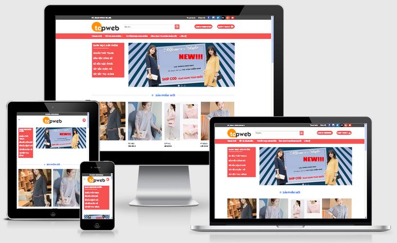 Thiết kế web thời trang nữ