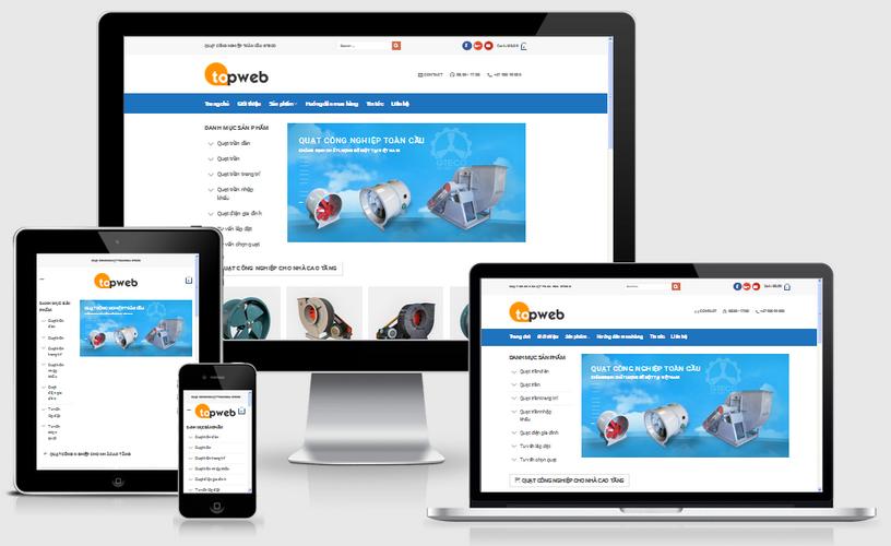 Thiết kế web bán quạt điện