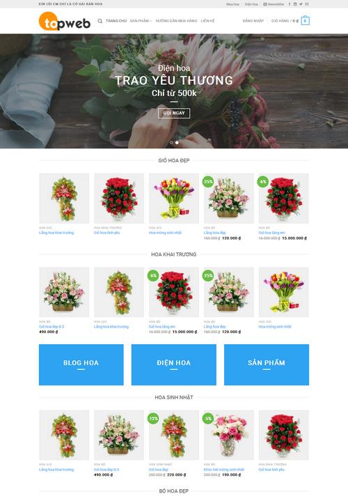 Thiết kế web bán hoa 8