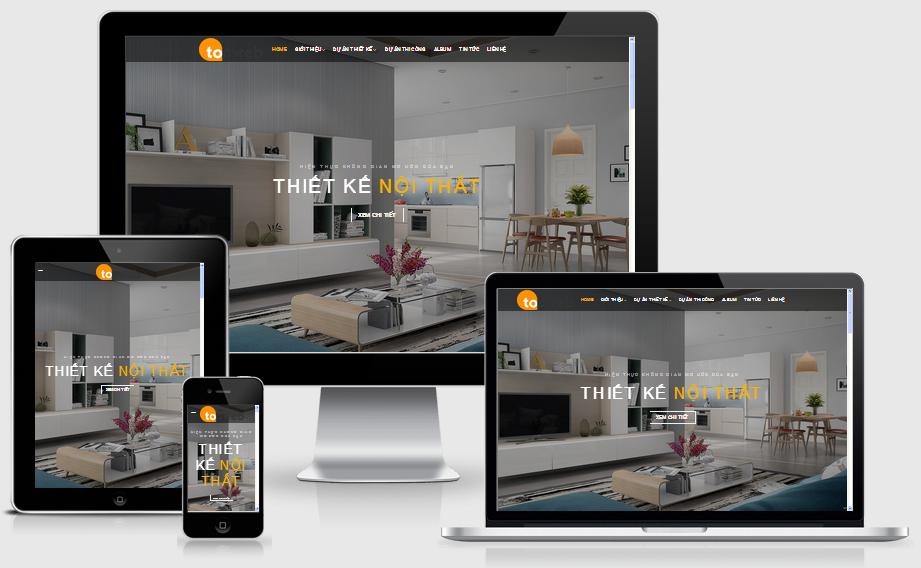 Thiết kế web thiết kế nội thất