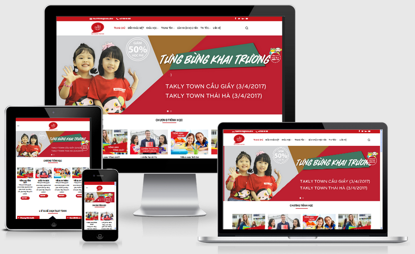 Thiết kế web anh ngữ