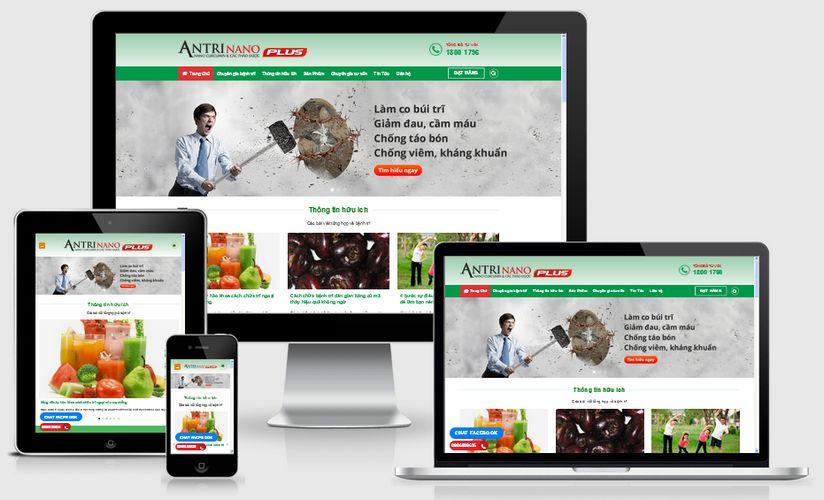 Thiết kế website dược phẩm