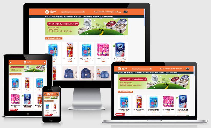 Thiết kế website bách hóa tạp hóa