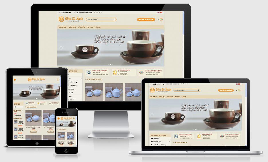 Thiết kế website bán hàng gốm sứ