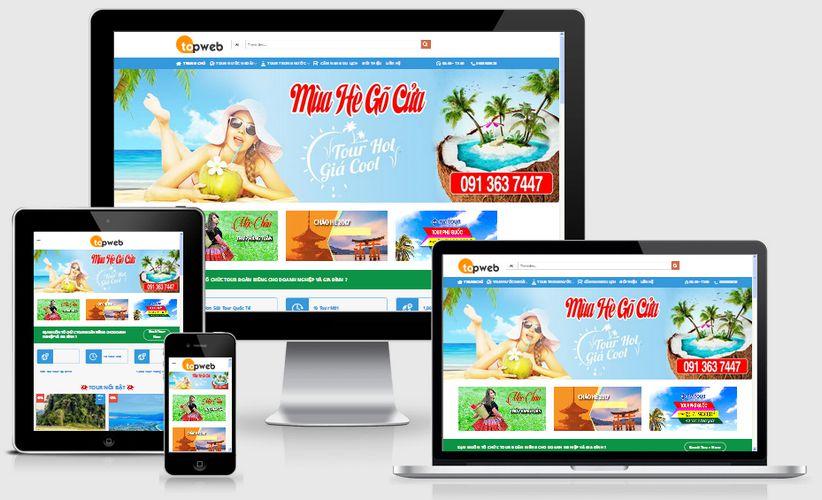 Thiết kế website đặt Tour du lịch