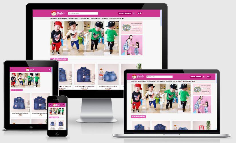 Thiết kế website bán hàng trẻ em