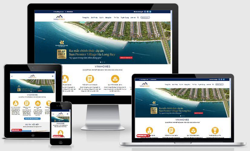 Mẫu website nhà dự án nhà đất