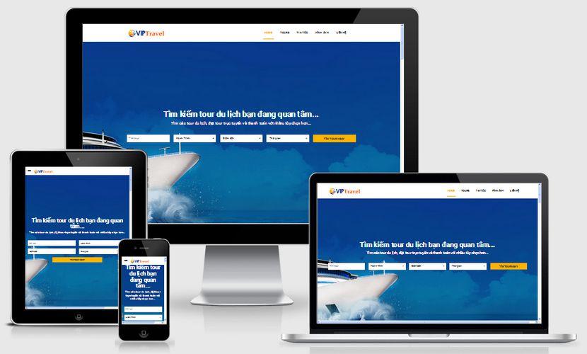 Mẫu website du lịch đẹp 001