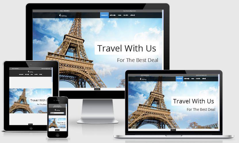 Mẫu website du lịch đẹp 003
