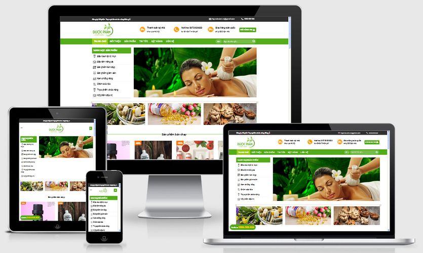 Mẫu website bán hàng dược phẩm