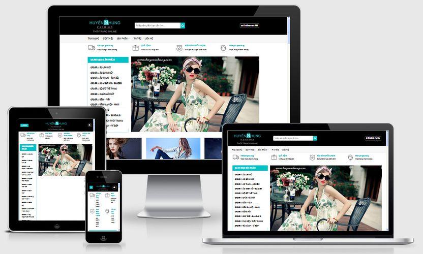 Mẫu website thời trang Huyền Nhung