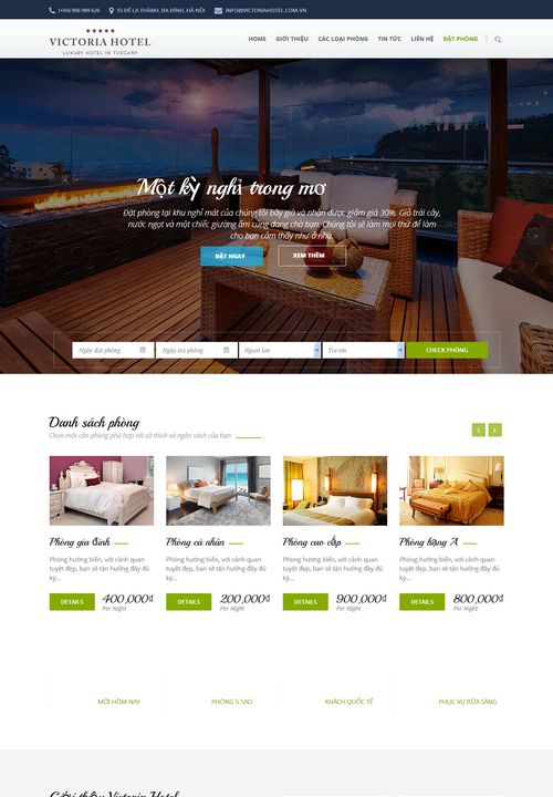 Mẫu website khách sạn đẹp 001 4