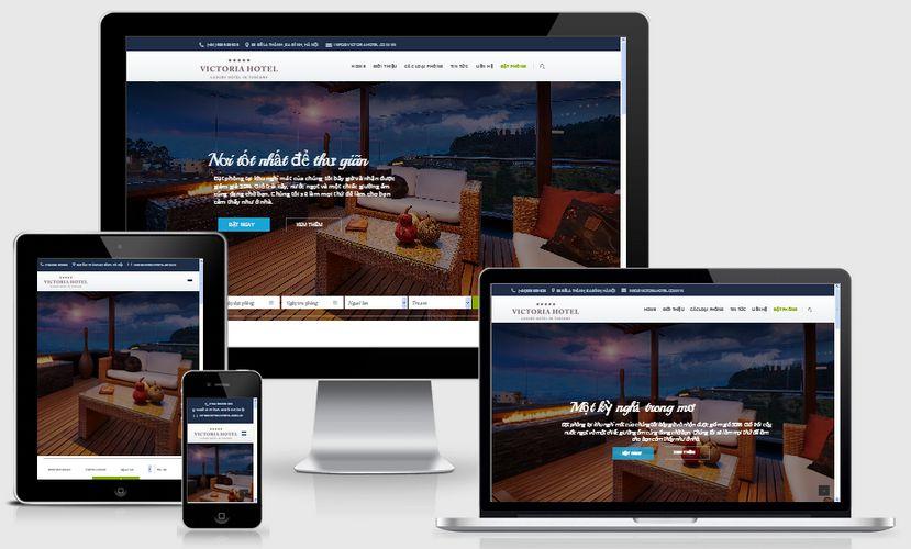 Mẫu website khách sạn đẹp 001