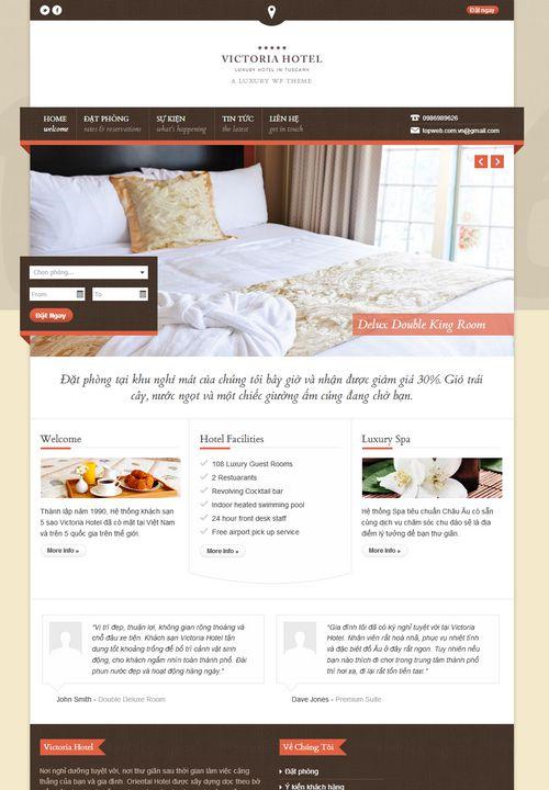Mẫu website khách sạn đẹp 003 3