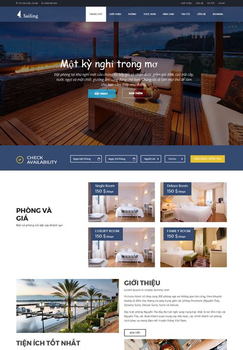 Mẫu website khách sạn đẹp 004 2