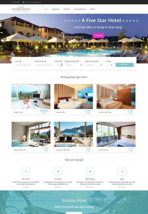 Mẫu website khách sạn đẹp 005 1