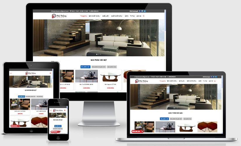 Mẫu website bán hàng nội thất 002