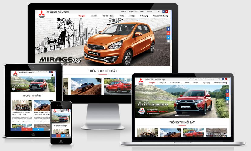 Mẫu website ô tô xe hơi 002