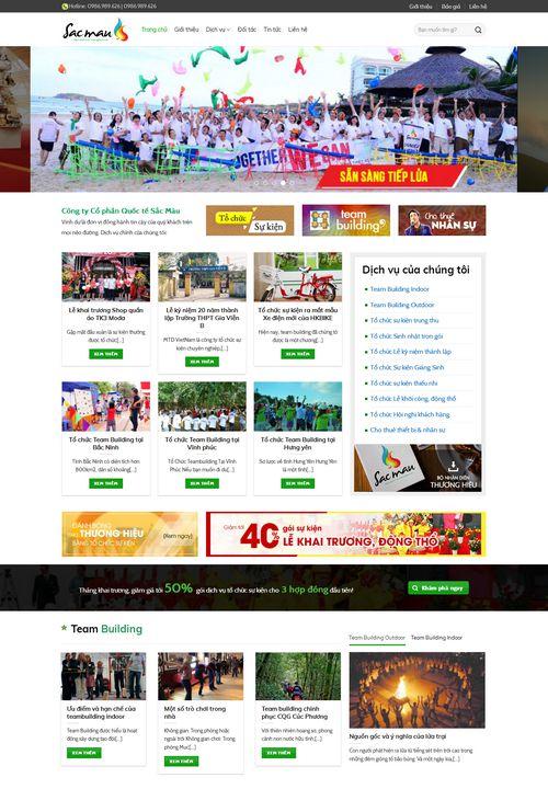 Mẫu website tổ chức sự kiện 6