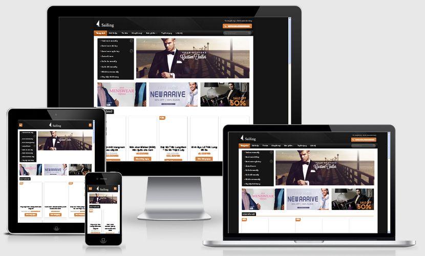 Mẫu website thời trang nam