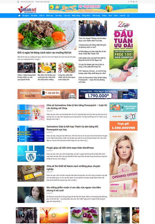 Mẫu website tin tức đẹp 8