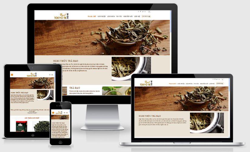 Mẫu website bán trà đạo