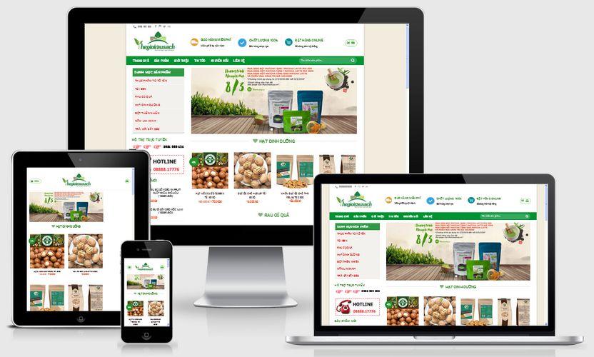 Mẫu website thế giới rau xanh