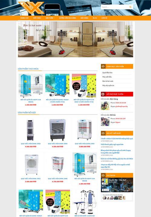 Mẫu website điện gia dụng 9