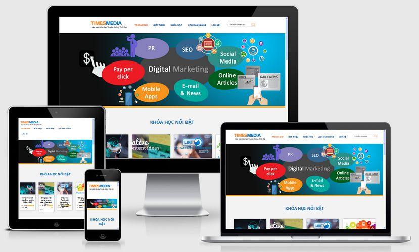 Mẫu website giáo dục đào tạo