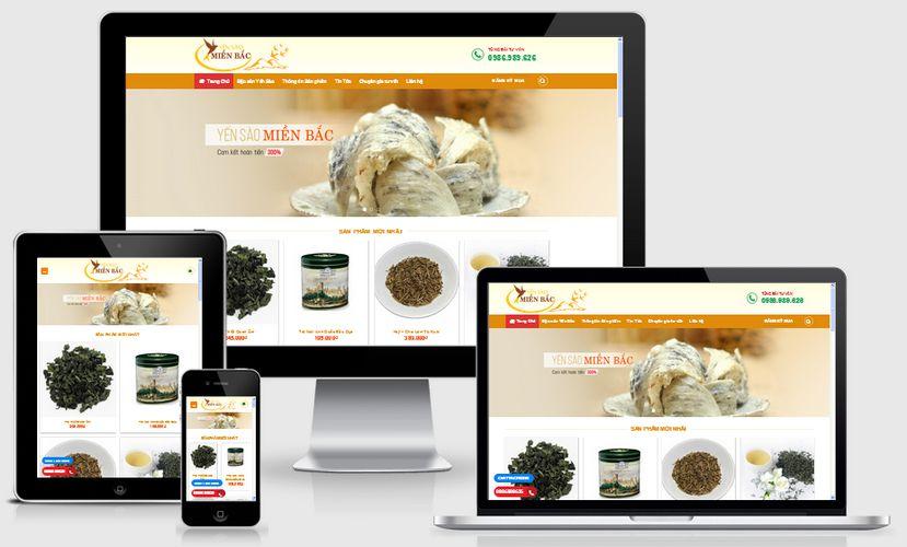 Mẫu website bán yến sào