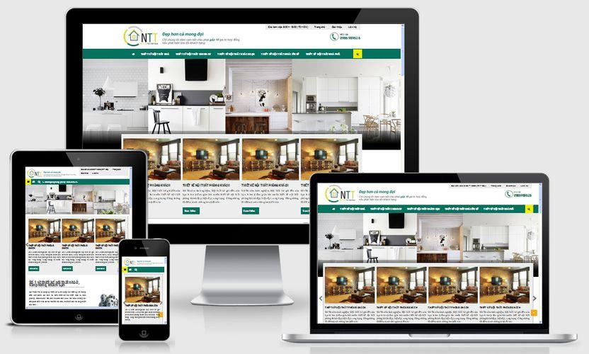 Mẫu website thiết kế nội thất NNT