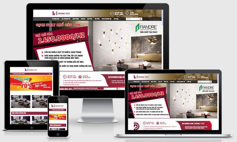 Mẫu website bán hàng nội thất Hùng Túy