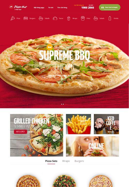 Mẫu website bán đồ ăn nhanh đẹp 8