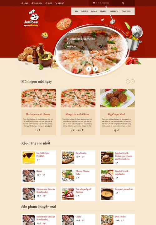 Mẫu website nhà hàng đồ ăn nhanh 7