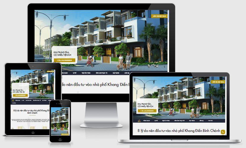 Mẫu website bất động sản nhà phố