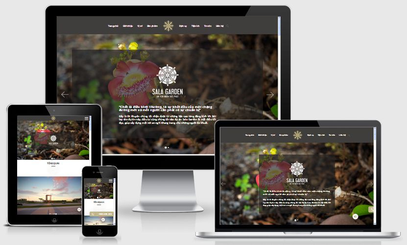 Mẫu website bất động sản Sala