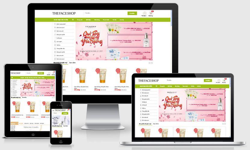 Mẫu website mỹ phẩm Thefaceshop