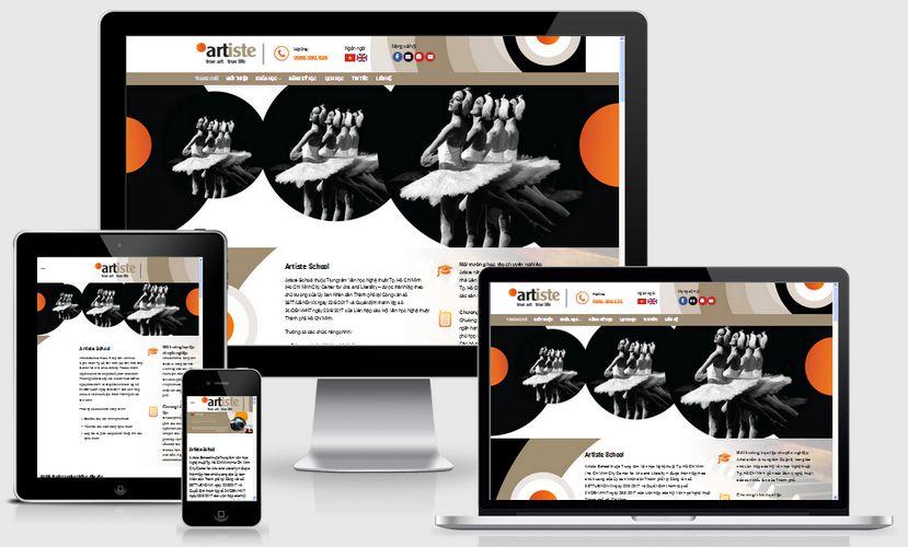 Mẫu website trường dạy nghệ thuật
