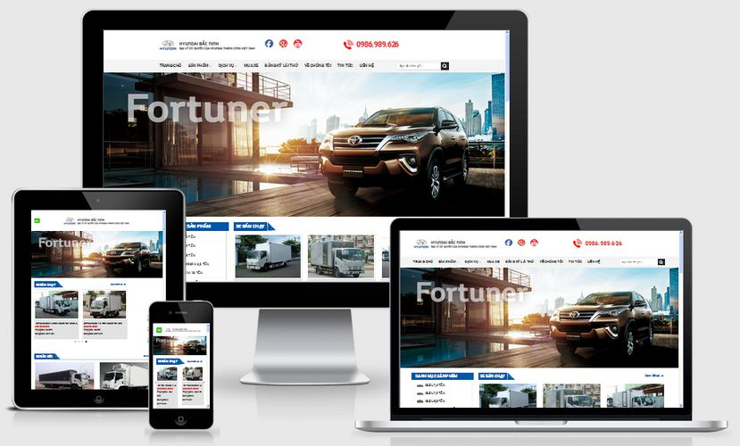 Mẫu website bán xe ô tô tải đẹp