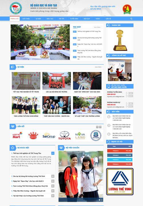 Mẫu website trường học phổ thông 5
