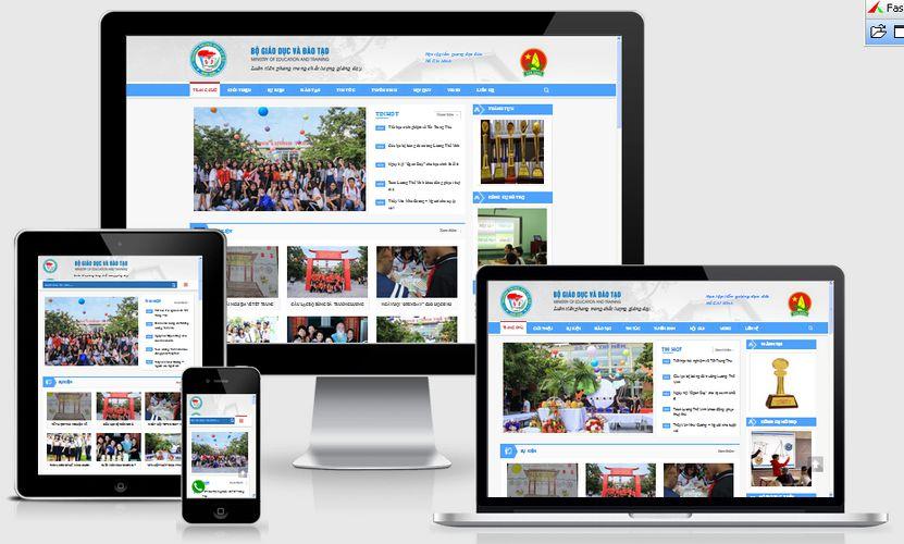 Mẫu website trường học phổ thông