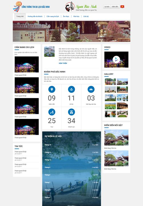 Mẫu website du lịch bắc ninh đẹp 7