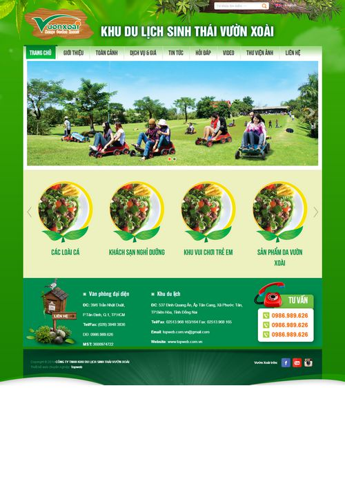Mẫu website du lịch sinh thái đẹp 6