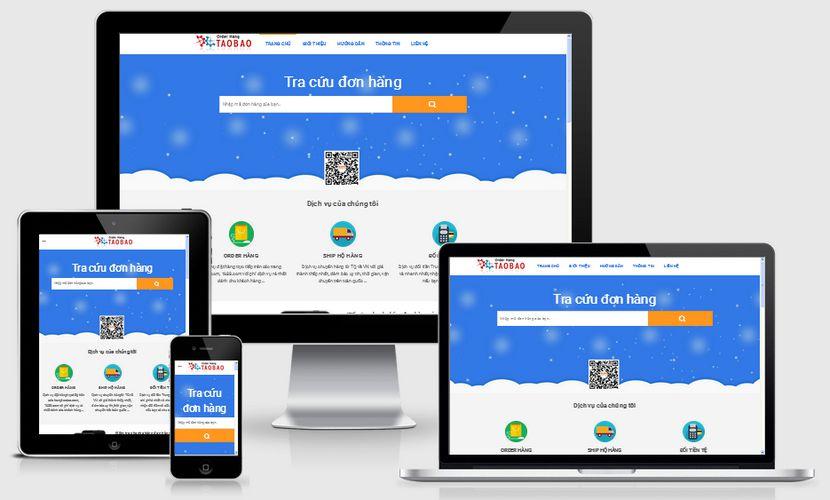 Mẫu website order taobao đẹp